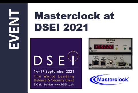 Masterclock to Exhibit at DSEI