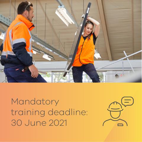 Countdown to mandatory training deadline