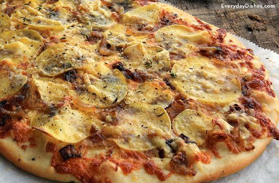 Potato cheese flatbread