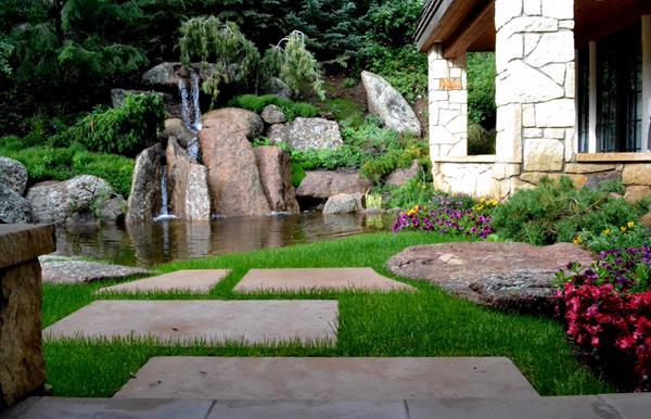 A Garden Fountain In Aspen, Colorado