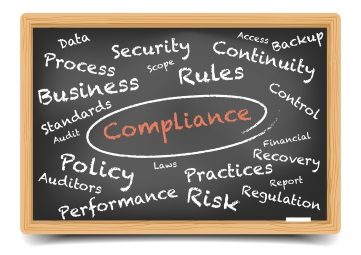 Compliance circled in chalk