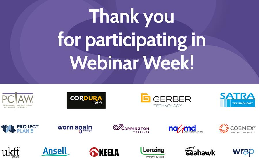 Many thanks to all to took part in Webinar Week