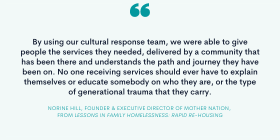 Quote from Norine Hill, Founder and Executive Director of Mother Nation