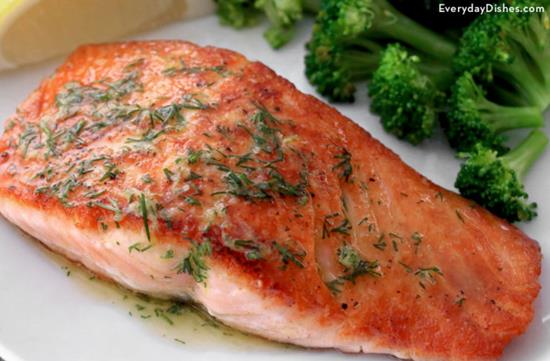 Pan-Seared Salmon with Dill Butter