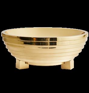 Ziggurat Brass Bowl