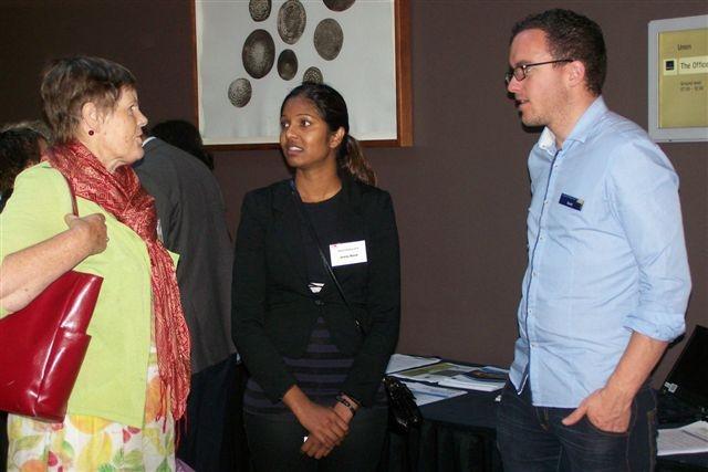 Scott talks to delegates at the Hamilton EthnicA Conference.