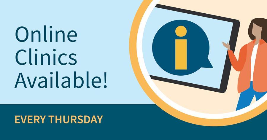Online clinics available every Thursday