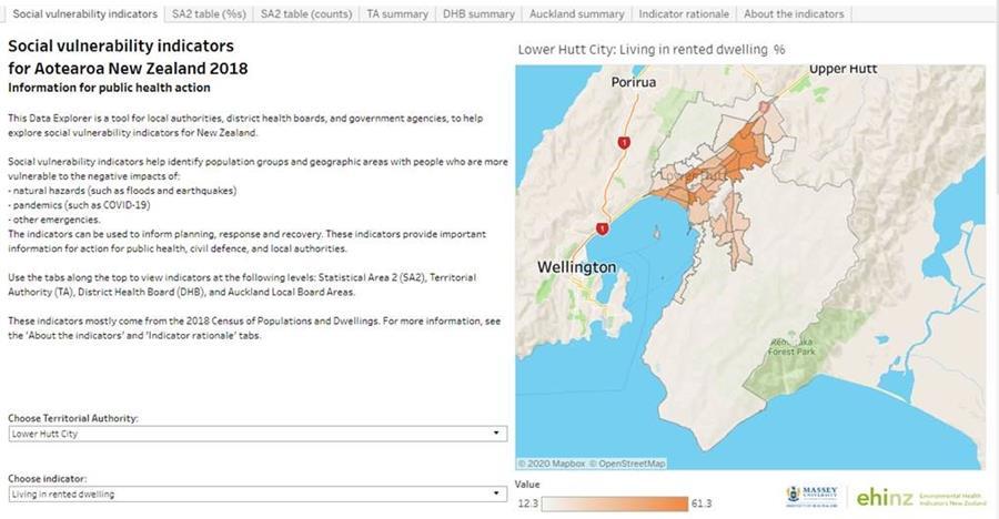 Data Explorer: Social Vulnerability Indicators for natural hazards and pandemics