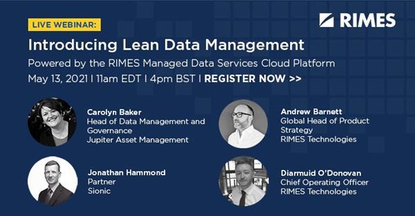 RIMES Lean Data Management on demand webinar recording