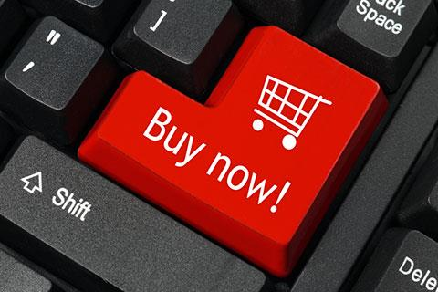 Buy now button on computer