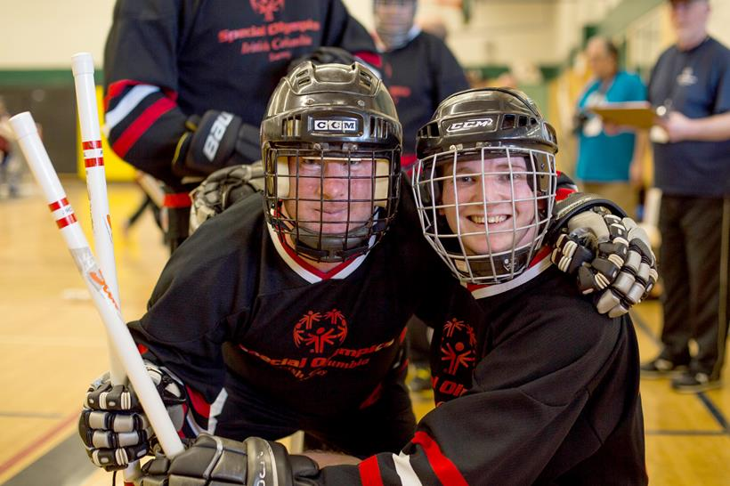 Special Olympics BC - Surrey floor hockey players