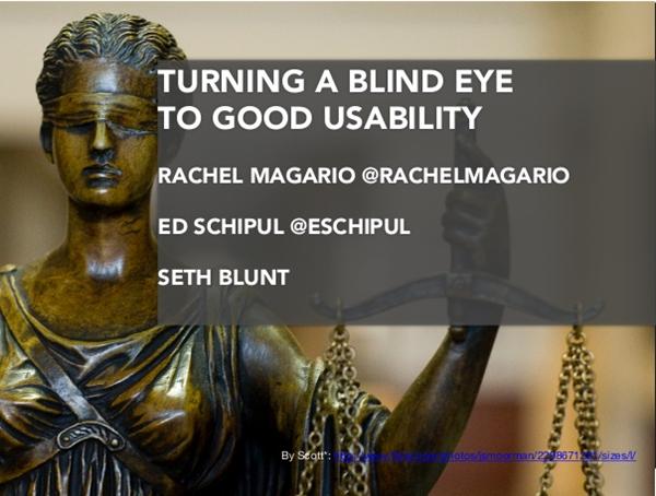 Turning a Blind Eye to Good Usability Presentation Slides