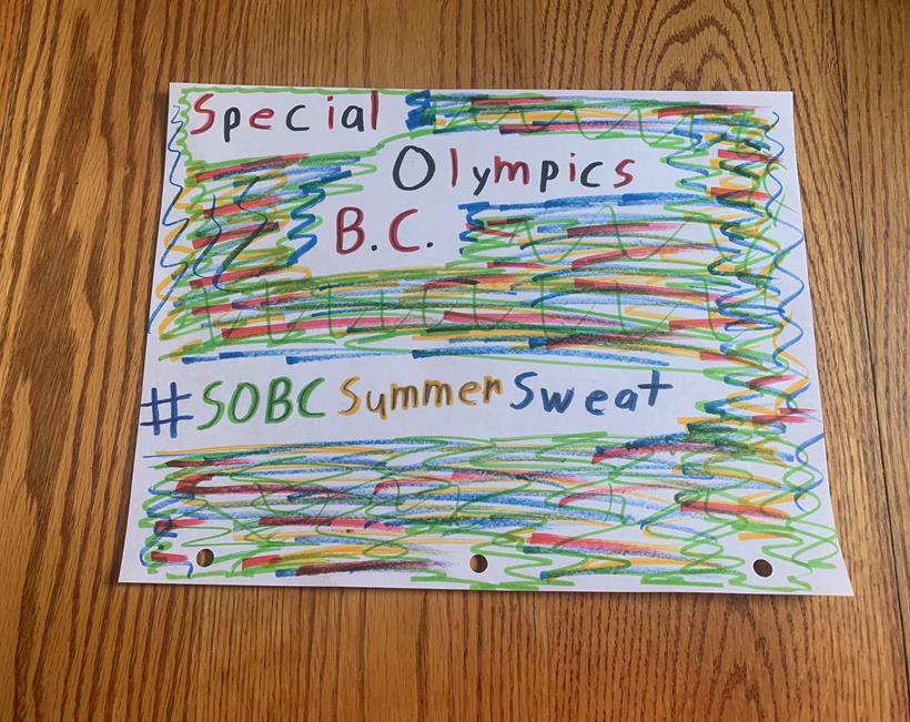 Special Olympics BC Summer Sweat Challenge artwork by Roy Stephens