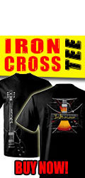 Bonamassa Iron Cross Tee. Buy Now!