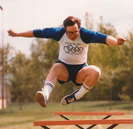 Special Olympics BC athlete circa 1981