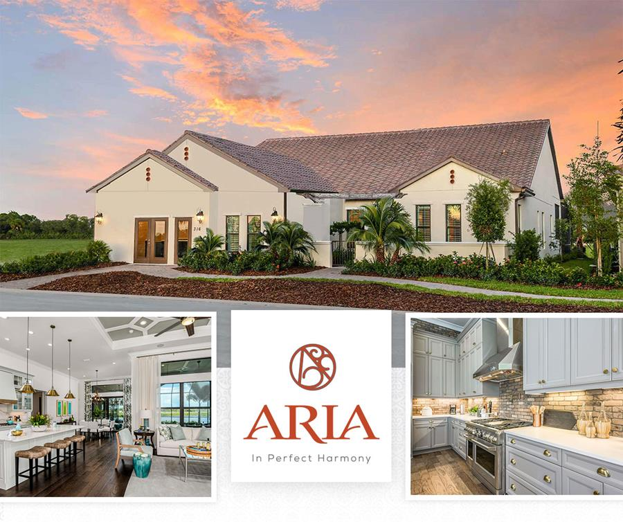 Aria's homes are luxury and designer
