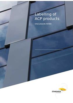image of Standards Australia - Labelling of ACP products discussion paper