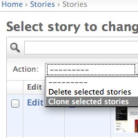 Cloning a Story Screenshot
