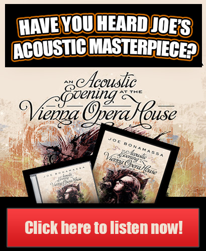 Have Your Heard Joe's Acoustic Masterpiece? 'An Acoustic Evening At The Vienna Opera House'. Click Here To Be Amazed!