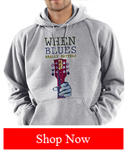 Tribut Apparel - BLUES MATTERS - PULLOVER HOODED SWEATSHIRT (UNISEX)