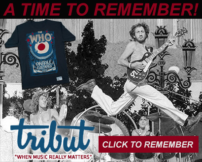 Tribut, When music really matters. A time to remember. The Who tee. Buy now
