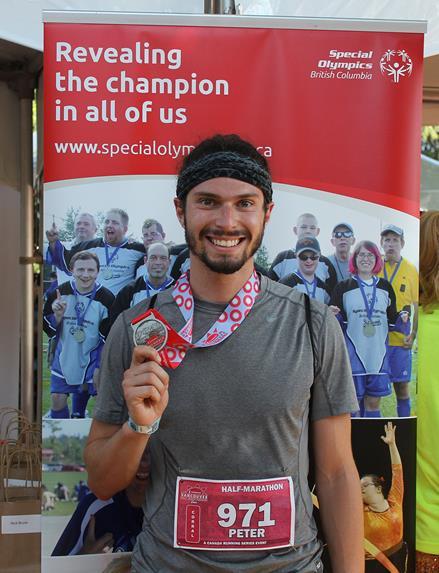 Scotiabank Vancouver Half-Marathon 2015 runner Peter De Marchi