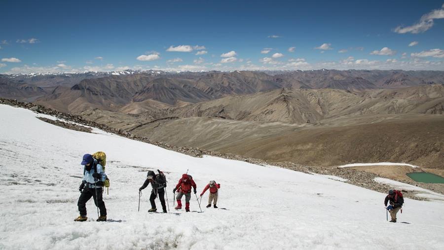 Climbing on Mentok Kangri