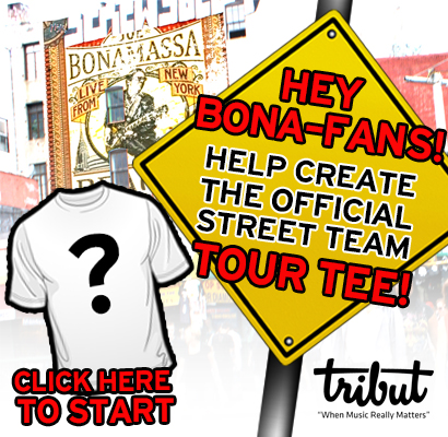 Tribut, when music really matters. Hey Bona-Fans! Help create the official Street Team tour tee! Click here to start.