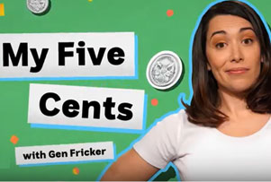 My Five Cents video screen