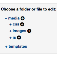 Edit CSS Files Screenshot