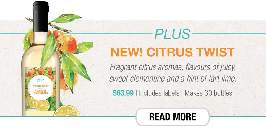 Plus new Citrus Twist