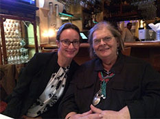 Professor Ann Romines with GW English PhD Charmion Gustke. Professor Romines retired this year after 43 years of service to the department.