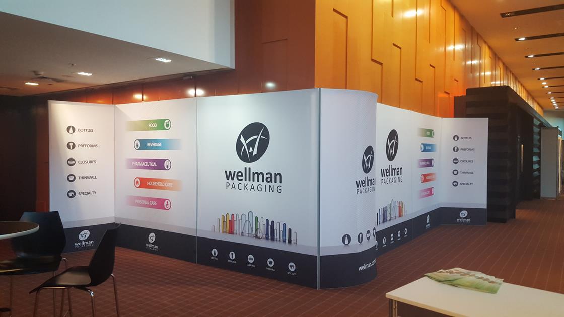 TexFrame Fabric Graphics Exhibits Event Display