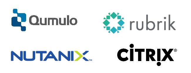 Citrix, Nutanix, Rubrik, Qumulo