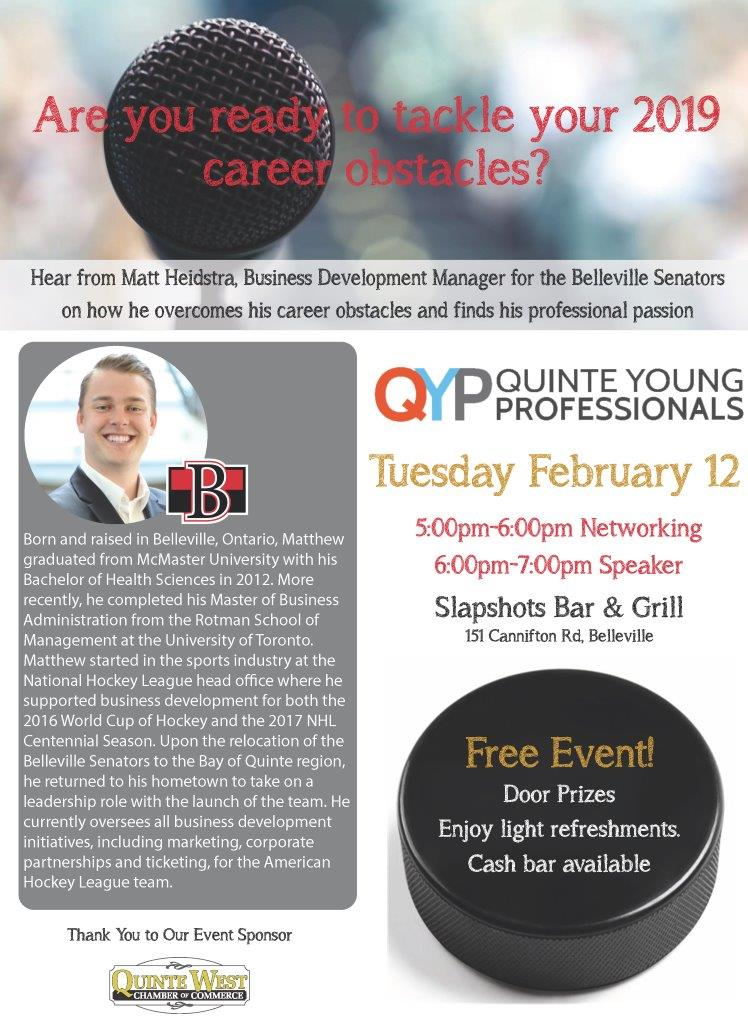 Belleville Senators QYP Event