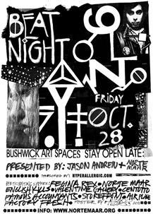 Beat Nite, Bushwick, Norte Maar, Brooklyn, Art Spaces, galleries