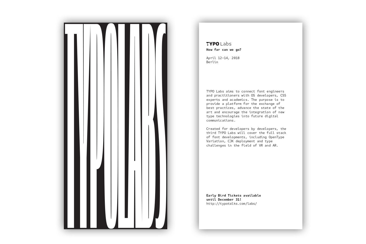 TYPO Labs Flyer