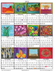 2013 Calendar - Frieda Anderson