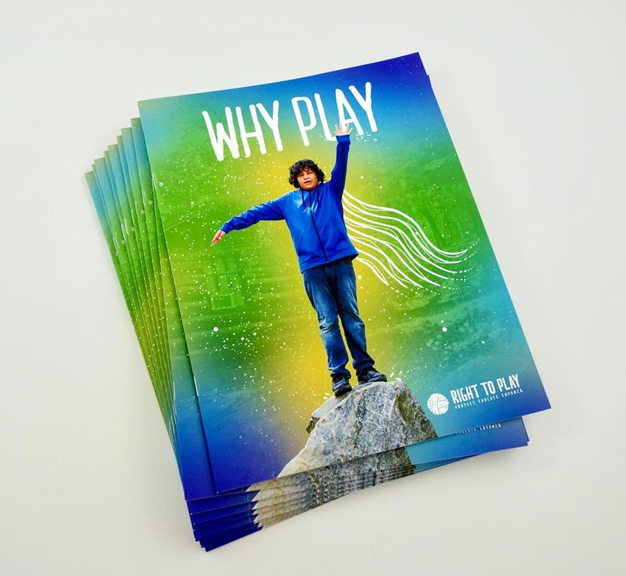 Photo of covers for the Right to Play Case for Support.