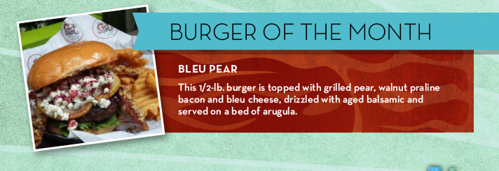 Burger of the Month | Bleu Pear