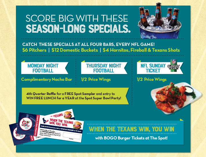 Score big with these season-long specials.