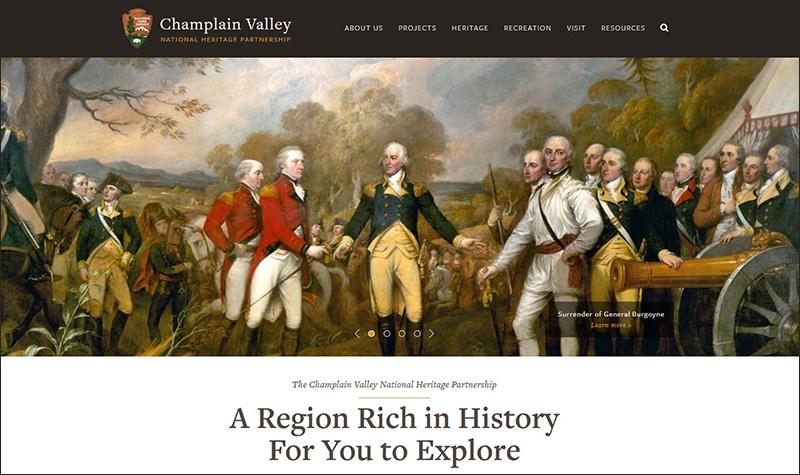 CVNHP Homepage screen capture
