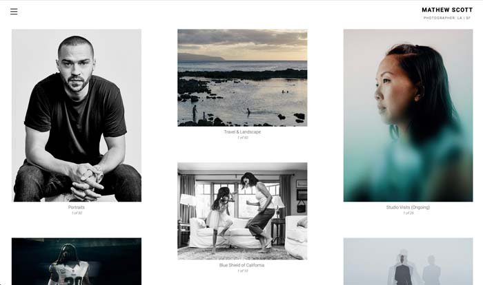 PhotoFolio Client Mathew Scott