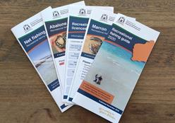 Image of several fishing guide publications